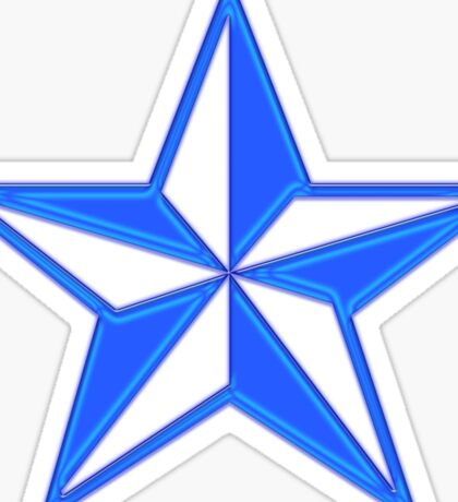 Punk Star Blue Sticker