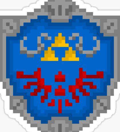 """Pixel Hylian Shield - """"Legend Of Zelda"""" Sticker"""
