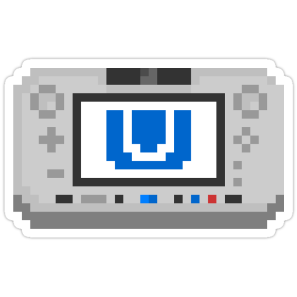 "Pixel ""Wii U"" Sticker by PixelBlock"