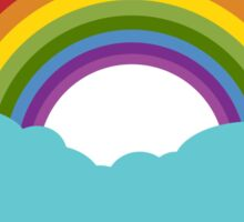 Rainbow with cloud Sticker