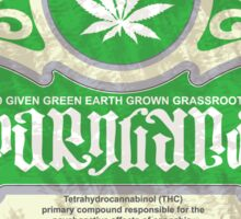marijuana ambigram Sticker