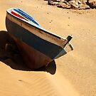 Boat on the beach by Iryna Shpulak