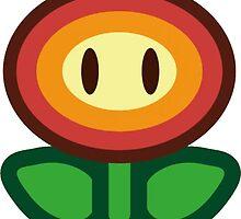 Sticker Star Fire Flower  by AngryMuffin