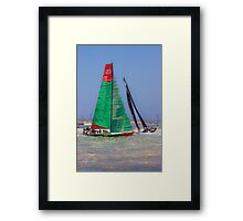 Volvo Ocean Race. Lisbon. Groupama and Abu Dhabi Framed Print