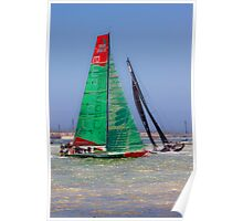 Volvo Ocean Race. Lisbon. Groupama and Abu Dhabi Poster