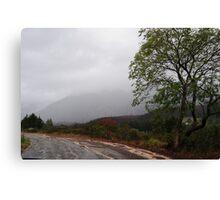Mountain shawl Canvas Print