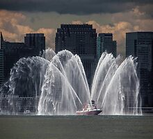 Fireboat on the Hudson by Chris Lord