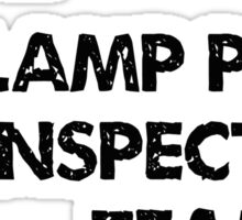 Lamp Post Inspection Team Sticker