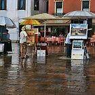A splash of rain in Venice by John Lines