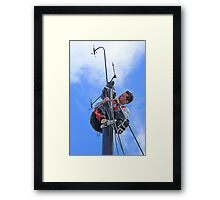 Just checking...Volvo Ocean Race... Framed Print