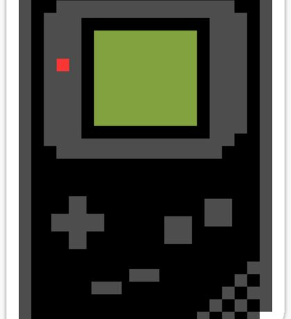 8 bit Gameboy Classic Black Sticker