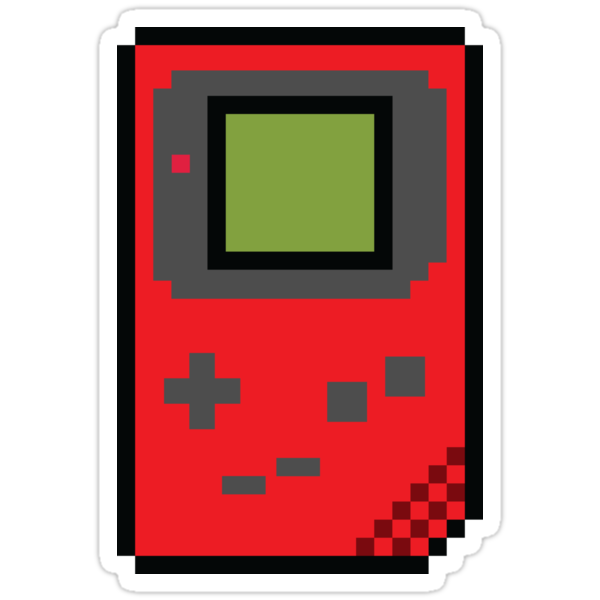 8 bit Gameboy Classic Red by PlatinumBastard