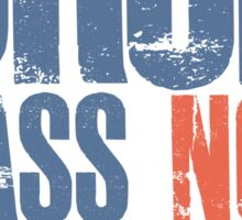 Drop Bass Not Bombs (blue/orange)  Sticker