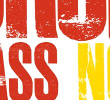 Drop Bass Not Bombs (red/yellow)  Sticker