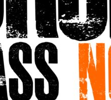 Drop Bass Not Bombs (black/orange)  Sticker