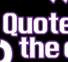SC2 Quote of the Day - Round Logo Sticker