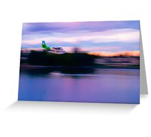 Twin Otter Float Plane Greeting Card