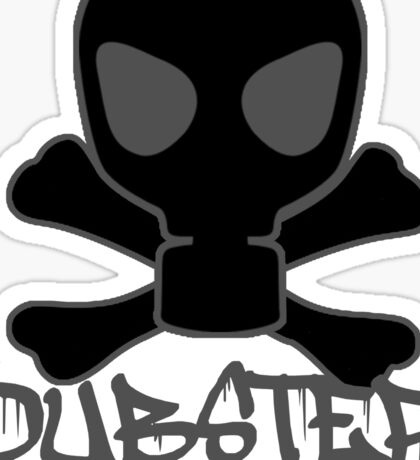 Dubstep Gas Mask Skull Sticker