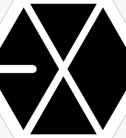 EXO Black Logo Sticker