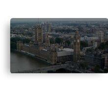 Houses Of Parliament, River Thames, London Canvas Print