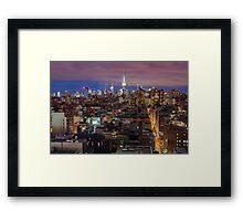 Midtown from SoHo Framed Print