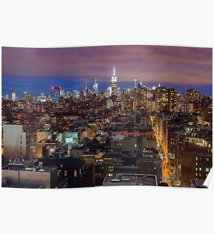 Midtown from SoHo Poster