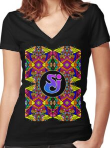 String Cheese Incident - Trippy Pattern 5 Women's Fitted V-Neck T-Shirt