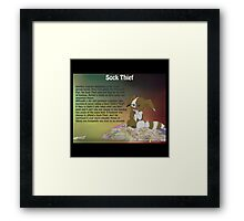 Sock Thief - Short Film Framed Print