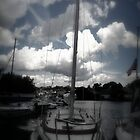 Sail Boat in Port  by Amanda Vontobel Photography