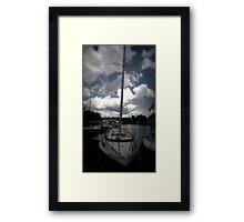 Sail Boat in Port  Framed Print