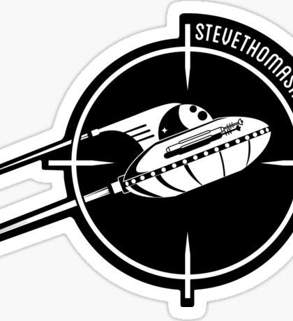 UFO logo Sticker