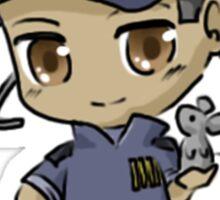 Mass Effect 3 Chibi Zodiac - David Anderson Sticker