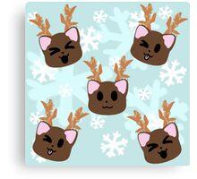 Reindeer Kittens Canvas Print