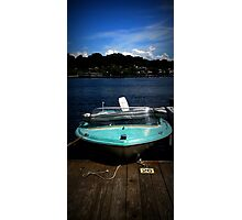 Sea Foam Little Boat Photographic Print