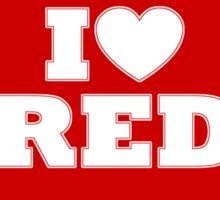 I love RED Sticker