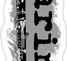 Clarinet Vertical Design Sticker