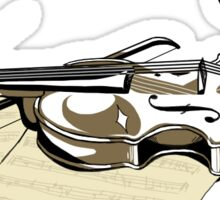 Violin Shine Sticker