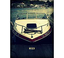 Red Boat at Port Photographic Print