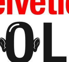 Helvetica Bold Sticker