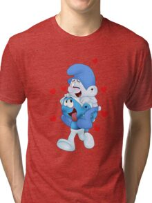 smurf_and_friend Tri-blend T-Shirt