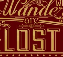 Lost Typography - STICKER (red) Sticker