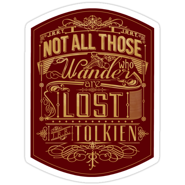 Lost Typography - STICKER (red) by MiniMoose