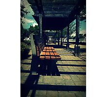 Bench & Shadows Photographic Print