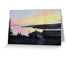 Rossport Bay Sunset Greeting Card