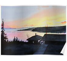 Rossport Bay Sunset Poster