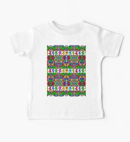 Grateful Dead Bears Trippy Pattern Baby Tee