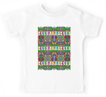Grateful Dead Bears Trippy Pattern Kids Tee