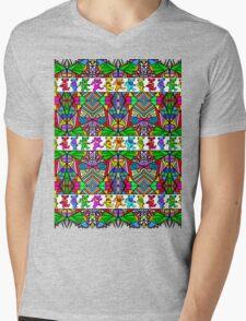 Grateful Dead Bears Trippy Pattern Mens V-Neck T-Shirt