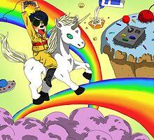 Rainbow ride by MedussaSolar