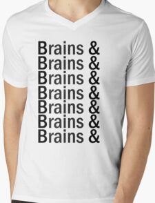 Brains & .... Mens V-Neck T-Shirt